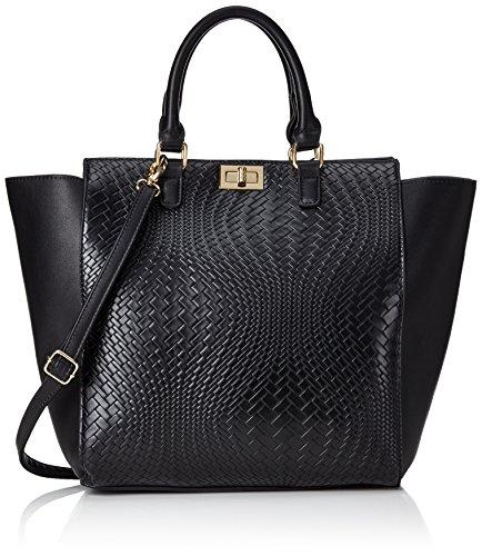 PIECESPCTHELMA SHOPPING BAG - Borsa shopper Donna , Nero (Nero (nero)), 32x32x10 cm (B x H x T)