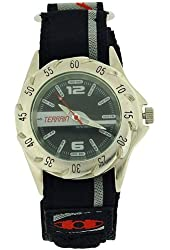 Terrain Sharkfin Black Dial Velcro Strap Gents Sports Analogue Watch TV-1333G