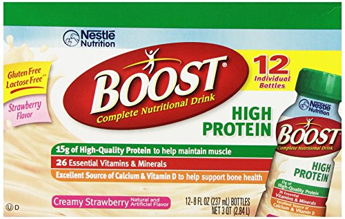 Boost Ready To Drink, Hi Protein Creamy Strawberry, 8 Ounce (Pack Of 24)