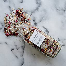 Rock Star Detox - Organic Bath Salts - Detoxifying Herb & Salt Soak, Aromatherapy Bath Tea, Detoxifying Bath Salts