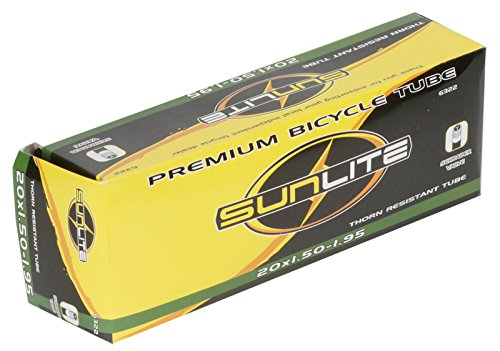 Sunlite Thorn Resistant Schrader Valve Tube, 20 x 1.50 - 1.95