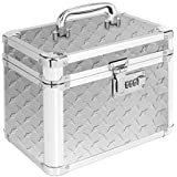 Vaultz Locking Garage Box, 10 x 7.75 x 7.25 Inches, Silver Treadplate (VZ00715)