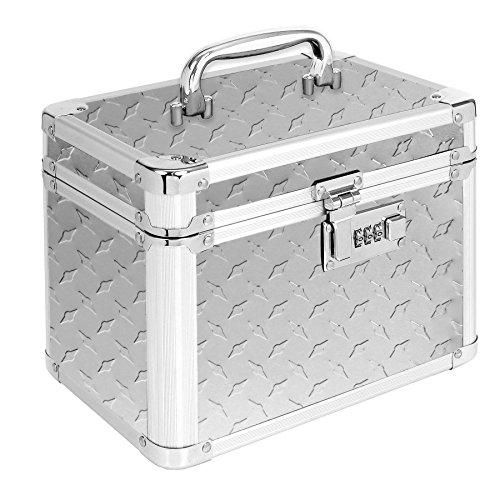 Vaultz Locking Garage Box, 10 x 7.75 x 7.25 Inches, Silver Treadplate (VZ00715) (Toolbox Briefcase compare prices)