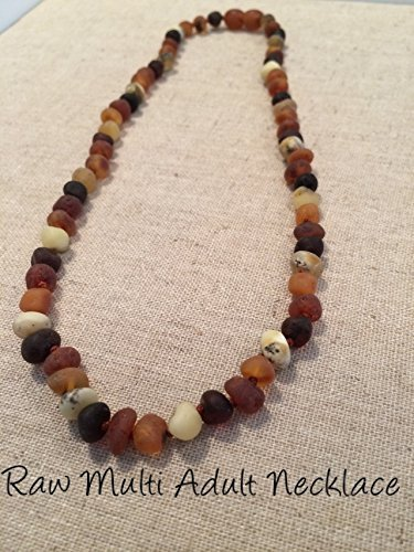 Baltic Amber Necklace for Adults Raw Multi