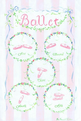 The Kids Room by Stupell Ballet Slipper Positions Rectangle Wall Plaque