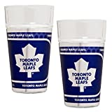 NHL Toronto Maple Leafs Pint Glass Set with Metallic Graphics (2-Piece), 16-Ounce, Clear