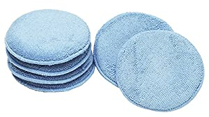 Viking 862400 Blue Microfiber Wax Applicator, (Pack of 6)