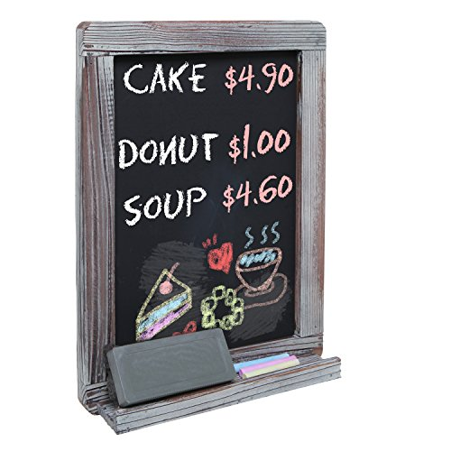 Wall Mounted Decorative Rustic Style Wood Framed Chalkboard Memo Message Board / Erasable Store Sign
