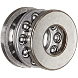 SKF Grooved Race Thrust Bearing, 3 Piece, ABEC 1 Precision, 90° Contact Angle, Open, Steel Cage, Metric