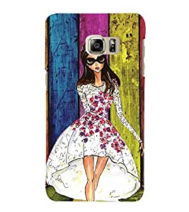 Fuson Multicolor Pattern Girl Back Case Cover for SAMSUNG GALAXY NOTE 5 EDGE - D3749