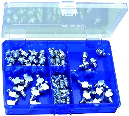 BLUREA-Schmiernippel-Sortiment-in-Sortier-Kunstoffbox-70-tlg-nach-DIN-71412-Kegelschmiernippel-H1-Form-A-H2-Form-B-mit-metrischem-Gewinde-und-H1-Form-A-mit-Zollgewinde