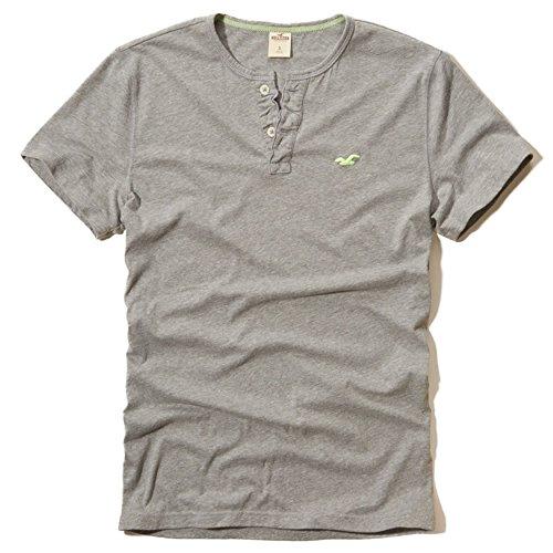 (ホリスター)Hollister Tシャツ ( 半袖ヘンリーネック ) RIVER JETTIES HENLEY [並行輸入品]