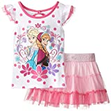 Disney Little Girls' Frozen Sisters Two-Piece Scooter And Top Set