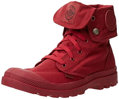 Palladium Unisex Mono Chrome Baggy Boot,Maroon,4 M US