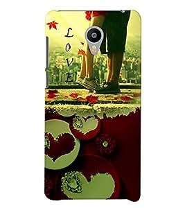 PrintVisa Romantic Love Couple 3D Hard Polycarbonate Designer Back Case Cover for Meizu M2