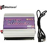 iMeshbean® 250W 300W 500W 600W 1000W 2500W Grid Tie MPPT Power Inverter Converter for Solar Panel and Wind Turbine Generator System Stackable Pure Sine Wave USA (600W Solar Input 10.8v - 30v DC)