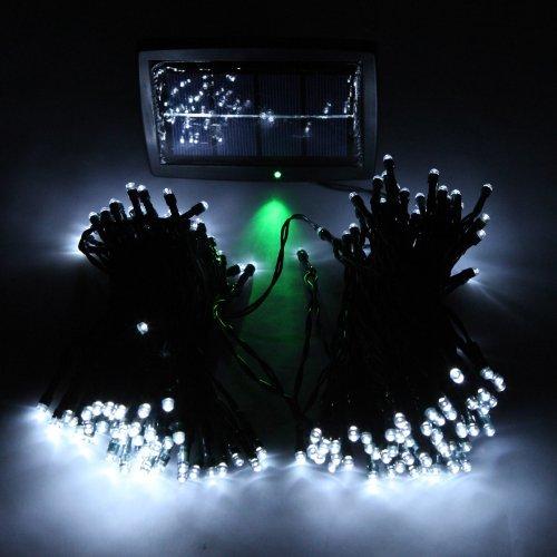 Kingzer Solar 200 Led String Light Christmas Wedding Party Garden Tree Light White Uk