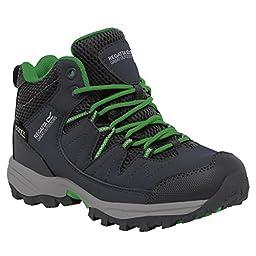 Regatta Great Outdoors Childrens/Kids Holcombe Mid Cut Waterproof Walking Boots (5 US) (Seal Gray/Green)