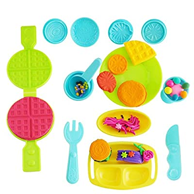 Kare & Kind Smart Dough Tools Kit with Ice Cream, food and fruit set (Kare and kind Retail Packaging) - Assorted color from Kare and Kind