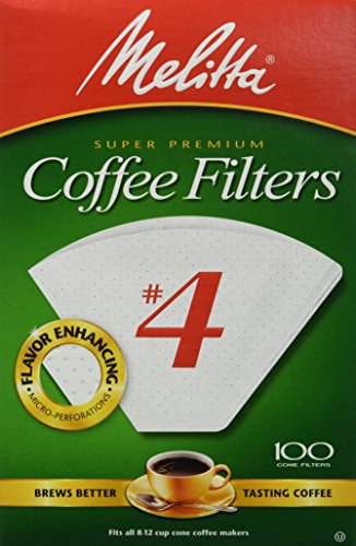 Melitta Cone Coffee Filter, White No. 4, 100 Count (Pack of 6) (Cone Coffee Filters White compare prices)