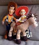 """HUGE 18"""" Disney Toy Story Bullseye Jessie & Woody Plush dolls"""