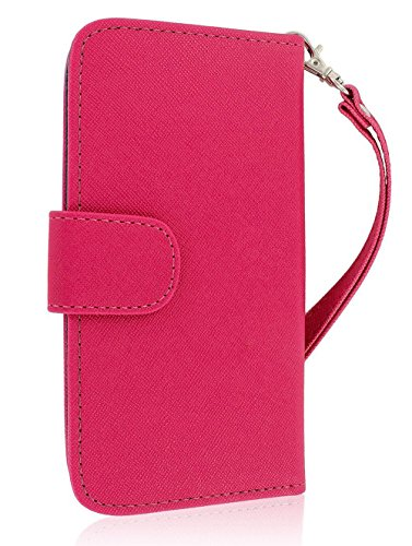 Mylife Light Ruby Pink {Glamorous Design} Faux Leather (Card, Cash And Id Holder + Magnetic Closing) Slim Wallet For The All-New Htc One M8 Android Smartphone - Aka, 2Nd Gen Htc One (External Textured Synthetic Leather With Magnetic Clip + Internal Secure
