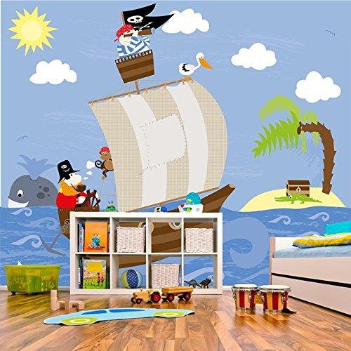 pirate-ship-treasure-island-jolly-roger-kid-tapete-karikatur-foto-tapete-in-8-grossen-erhaltlich-rie