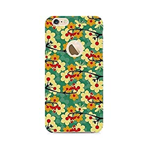 Ebby Flower Pattern Premium Printed Case For Apple iPhone 6/6s with hole