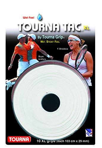 Unique Tennis Griffbänder Tourna Tac Weiß 10er, TG-2-10-XLW