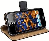 mumbi Ledertasche im Bookstyle für iPhone SE 5 5S Tasche