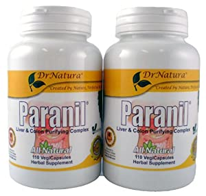 (2) Bottles of PARANIL liver and colon detoxification. From Dr Natura Colonix colon cleanse