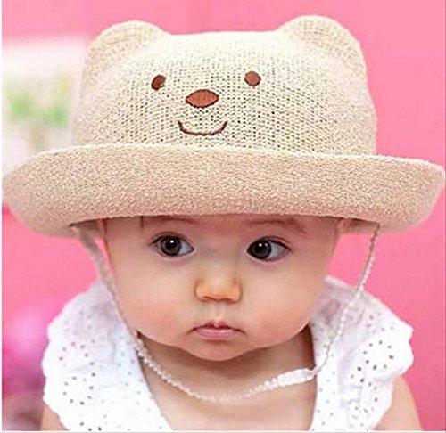 【On Dolce】クマさん風 ベビー ハット 赤ちゃん 子供 キッズ 帽子 5色から選べる BH003 (ベージュ)