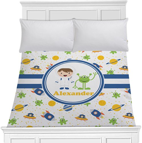 Boy'S Space Themed Duvet Cover (Personalized) - Toddler front-635110
