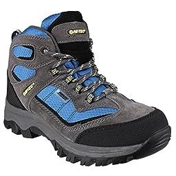 Hi-Tec Childrens/Kids Hillside WP Walking Boots (3 US) (Charcoal/Black)