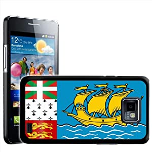 Fancy A Snuggle Saint Pierre And Miquelon Flag Design Hard Case Clip On Back Cover for Samsung Galaxy S2 i9100