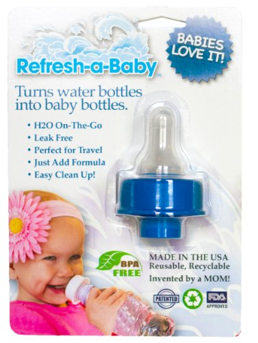 Refresh-a-Baby Water Bottle Adapter, Blue