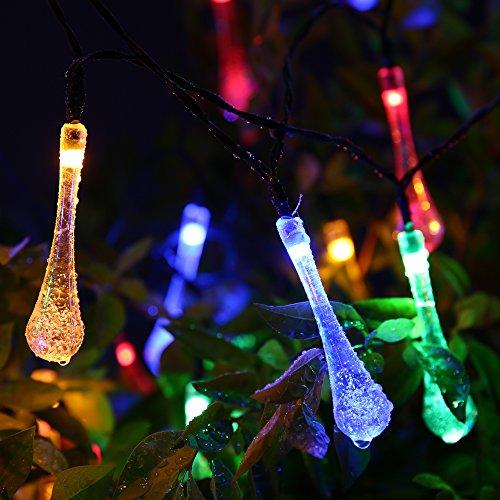 21ft 30led Solar Outdoor Fairy Garden String Lights