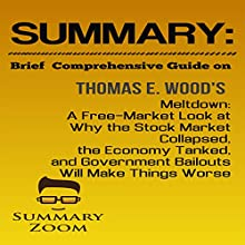 Summary: Brief Comprehensive Guide On: Meltdown: A Free-Market Look at Why the Stock Market Collapsed, the Economy Tanked, and Government Bailouts Will Make Things Worse: Summary Zoom, Book 24 Audiobook by  Summary Zoom Narrated by Doron Alon