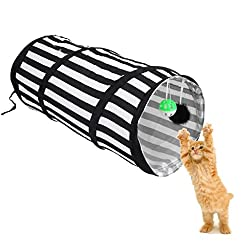Imported Pop Up Cat Dog Rabbit Puppy Play Tunnel Exercise Activity Toy Black White