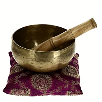 Ornamental Weather are proud to present the Singing Bowl For Healing Through Vibration Touch Bell Metal Art India Dia 12.7 CM