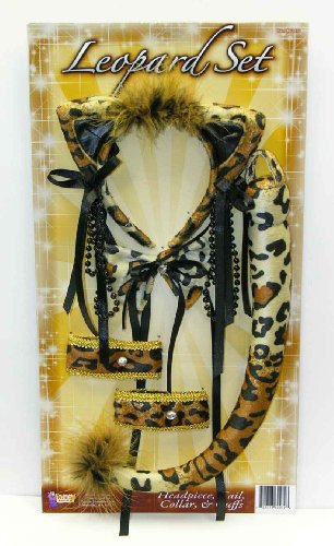 Sexy Deluxe Leopard Costume Accessory Kit Adult