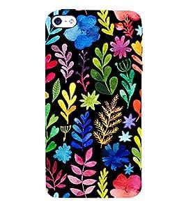 Leaf Pattern 3D Hard Polycarbonate Designer Back Case Cover for Apple iPhone SE