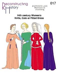 14th Century Women's Kirtle or Cotehardie Pattern