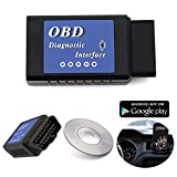 OxGord® Bluetooth OBD II OBD2 Reader Scan Tool - For Check Engine Light & Diagnostic Interface - 2015 Newest Technology - Android & Windows ONLY