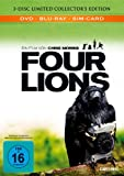 Four Lions (BR+DVD) Limited CE Mediabook Min: 102DD5.1WS 1BD+1DVD+1Bonus-Disc [Import germany]