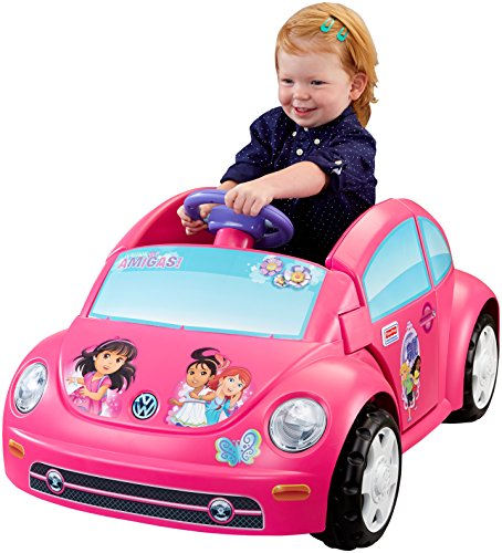 Power-Wheels-Nickelodeon-Dora-and-Friends-Volkswagen-New-Beetle-Ride-On