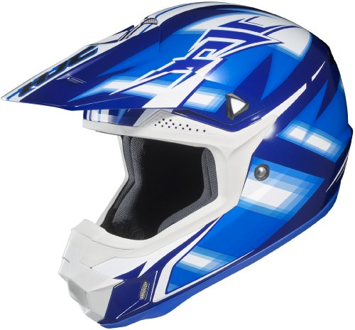 HJC CL-X6 Spectrum Off-Road Helmet (Black/Blue/White, Medium)