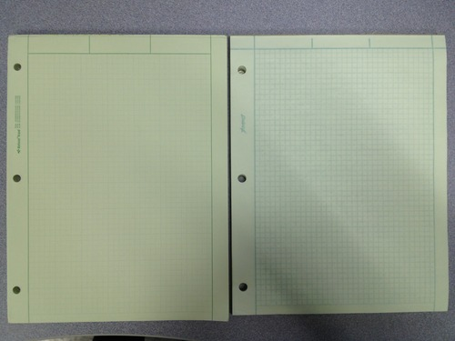 amazon com   national brand computation pad  plain and 5 x 5 quad on back  8 5 x 11 inches