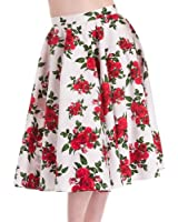 Hell Bunny Rock CANNES 50'S SKIRT white