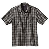 Jack Wolfskin Diamond Bay Men's Shirt with Insect Repellent Relief grey Dark Steel Checks Size:M